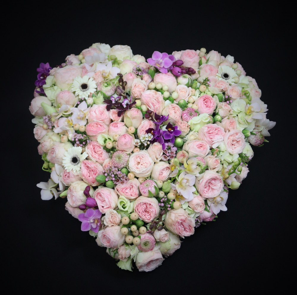 Heart with Orchids..